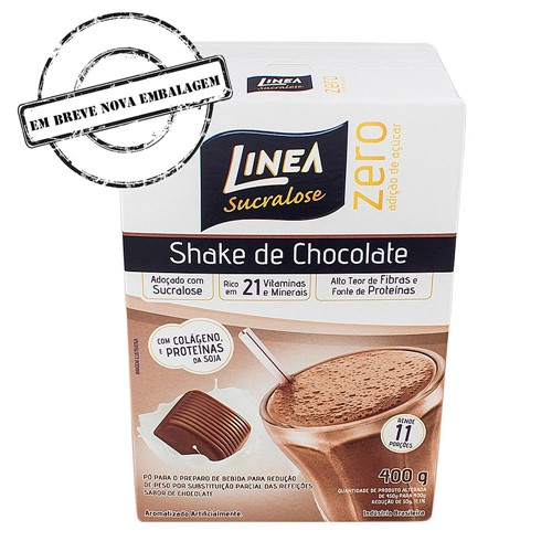 Shake Linea Sabor Chocolate 400g