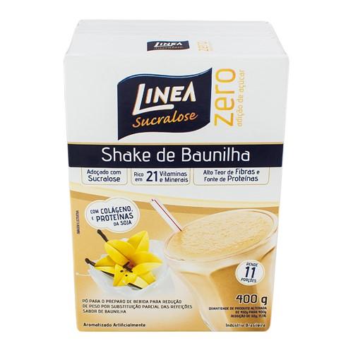 Shake Linea Sucralose Zero Açúcar Sabor Baunilha com 400g