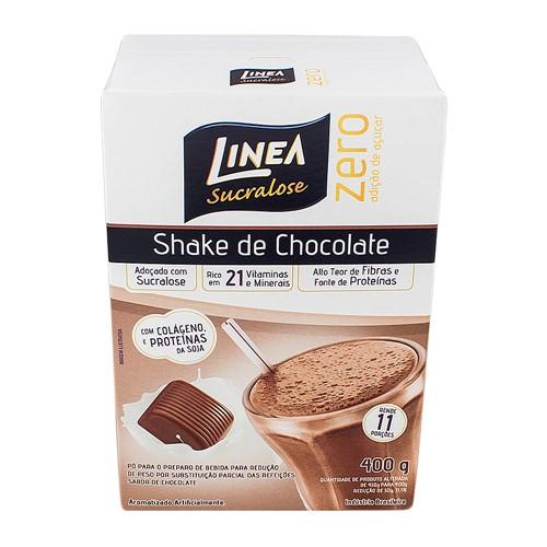 Shake Linea Sucralose Zero Açúcar Sabor Chocolate com 400g