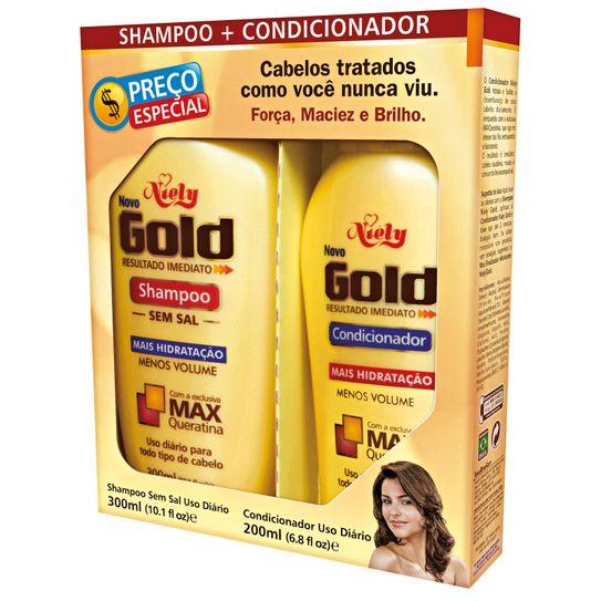 Shampoo 300ml+condicionador 200ml Niely Gold Uso Diário