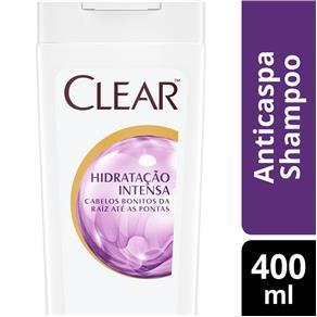 Shampoo Anticaspa Clear Hidratação Intensa - 400 Ml