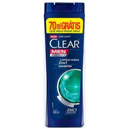 Shampoo Anticaspa Clear IceCool Menthol Pague 330ml Leve 400ml SH CLEAR A-CASPA LV400ML/PG330ML MEN ICE C MENTH