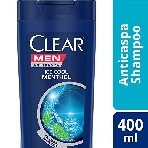 Shampoo Anticaspa Clear Men Ice Cool Menthol 400 Ml, Clear