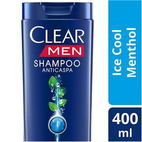 Shampoo Anticaspa Clear Men Ice Cool Menthol - 400ml