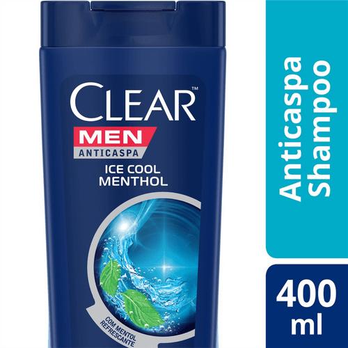 Shampoo Anticaspa Clear Men Ice Cool Menthol 400ml