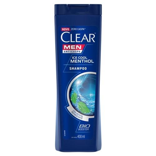 Shampoo Anticaspa Clear Men Ice Cool Mentol 400Ml