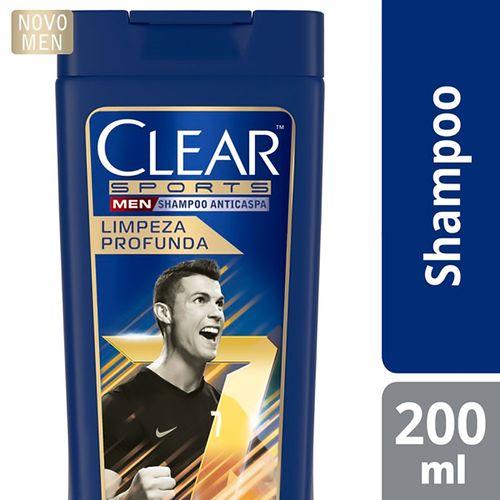 Shampoo Anticaspa Clear Men Limpeza Profunda 200ml