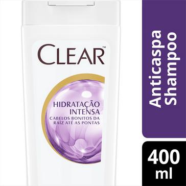 Shampoo Anticaspa Clear Women Hidratação Intensa 400 ML