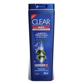 Shampoo Anticaspa Limpeza Profunda Clear Men 200mL