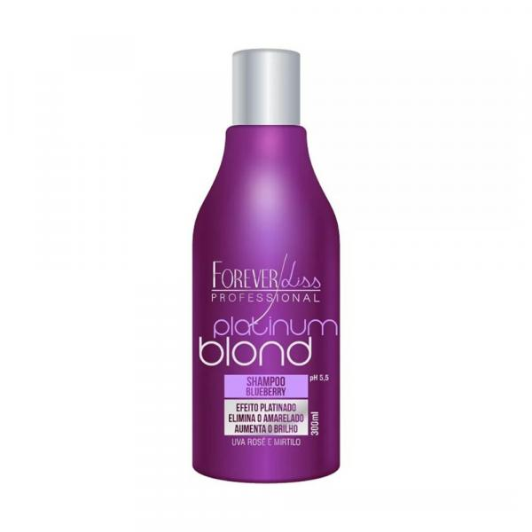 Shampoo Blueberry Matizador Platinum Blond 300ml - Forever Liss