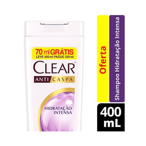 Shampoo Clear Anti Caspa Hidratação Intensa 400ml