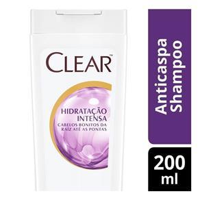 Shampoo Clear Anticaspa Hidratação Intensa 200ml