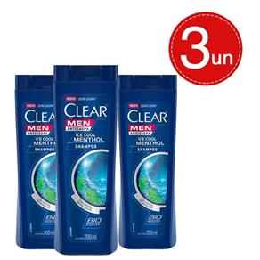 Shampoo Clear Anticaspa Ice Cool Menthol 200ml