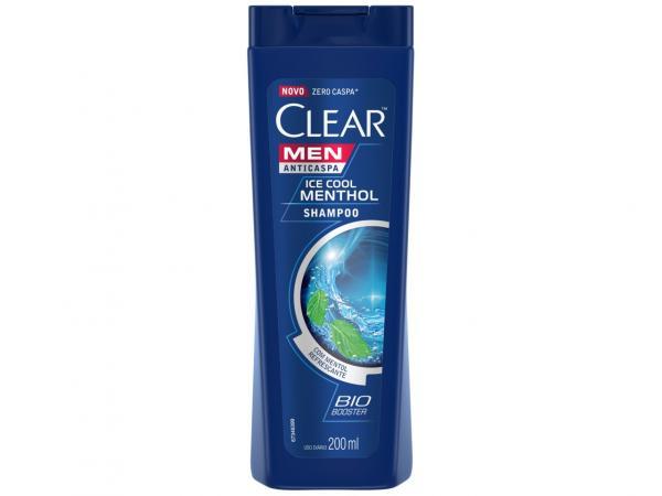 Shampoo Clear Anticaspa Ice Cool Menthol - 200ml