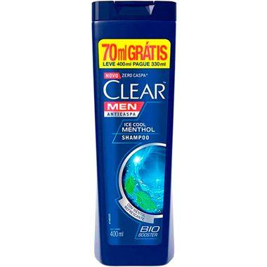 Shampoo Clear Anticaspa Ice Cool Menthol 400ml