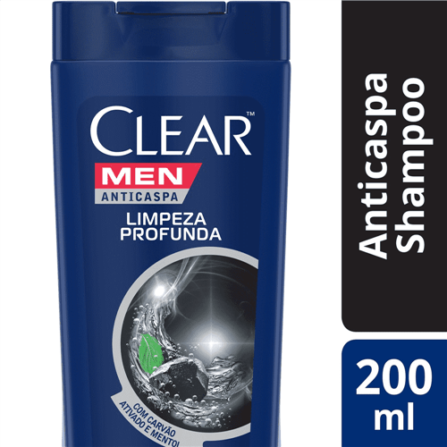 Shampoo Clear Anticaspa Men Limpeza Profunda Clear 200ml