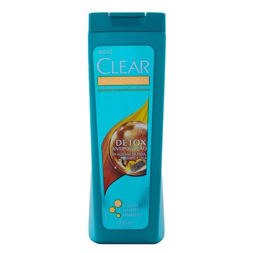 Shampoo Clear Detox Antipoluição 200ml