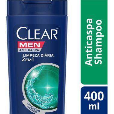 Shampoo Clear 2 em 1 Limpeza Diária 400ml