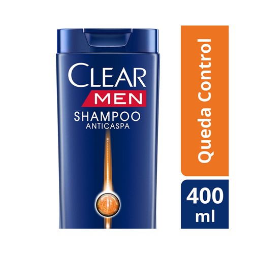 Shampoo Clear Men Anticaspa Queda Control 400ml