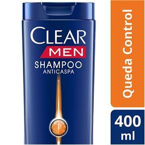 Shampoo Clear Men Anticaspa Queda Control - 400ml