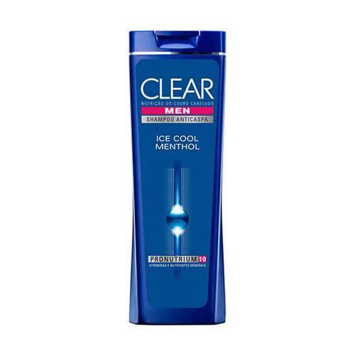 Shampoo Clear Men Ice Cool Menthol com 400 Ml