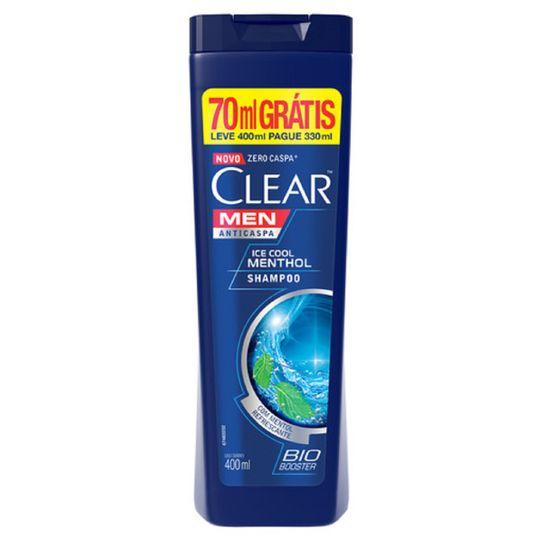 Shampoo Clear Men Ice Cool Menthol Leve 400ml Pague 330ml