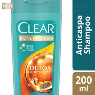 Shampoo Clear Women Anticaspa Detox Antipoluição 200ml