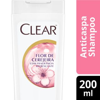 Shampoo Clear Women Anticaspa Flor de Cerejeira 200ml