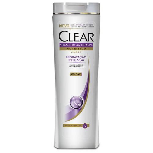 Shampoo Clear Women Anticaspa Nutritivo Hidratação Intensa