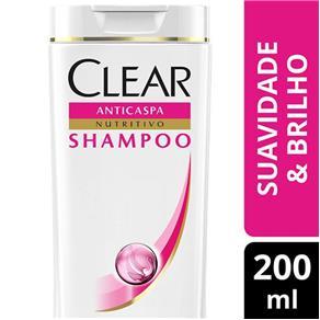 Shampoo Clear Women Anticaspa Suavidade e Brilho - 200ml