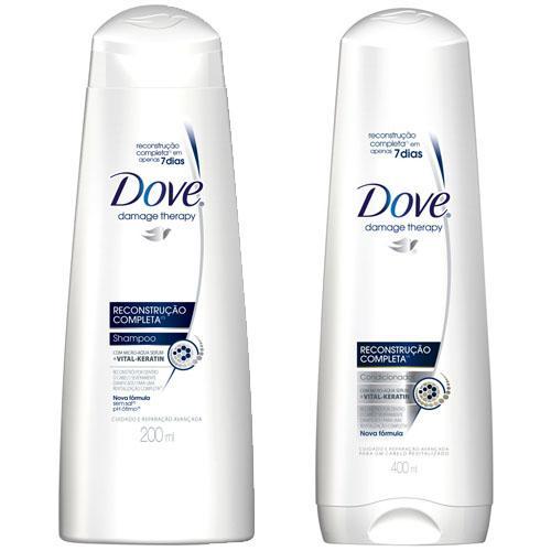 Shampoo + Condicionador Dove Reconstrução Completa 200ml - Dove