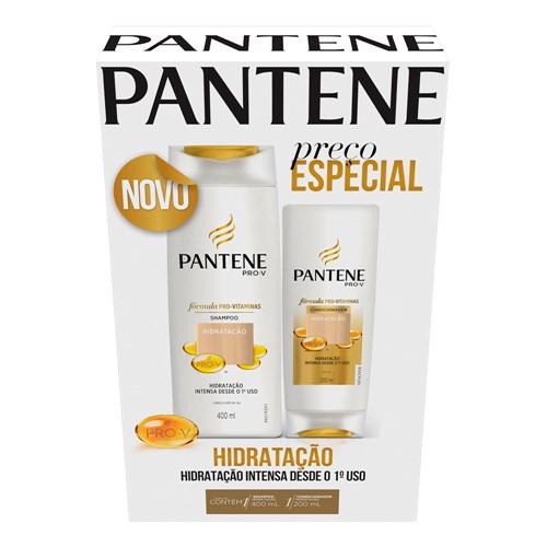 Shampoo + Condicionador Pantene Hidratação 400ml+200ml com Preço Especial