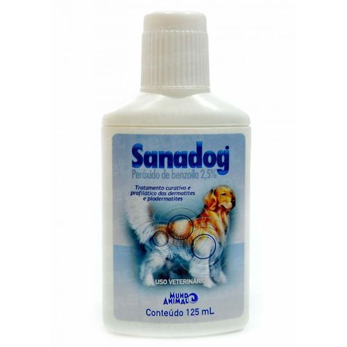 Shampoo Dermatológico Mundo Animal Sanadog para Cães 125ml