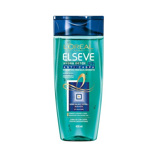 Shampoo Elseve Hydra Detox 48h Anti-Caspa 400ml