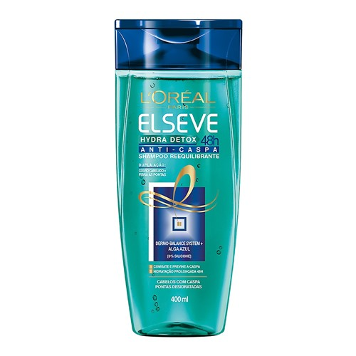 Shampoo Elseve Hydra Detox Anti-Caspa com 400ml