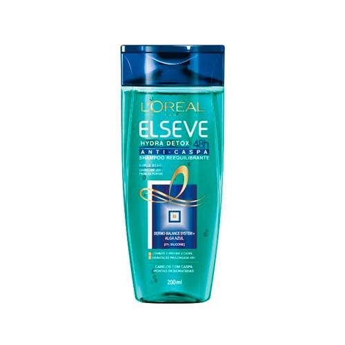 Shampoo Elseve Hydra-Detox Anti-Caspa Reequilibrante 200ml