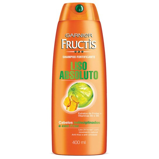Shampoo Fructis Liso Absoluto 400ml.