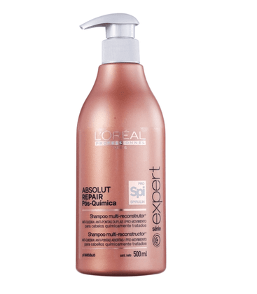 Shampoo Loreal Profissional Absolut Repair Pos Quimica 500ml