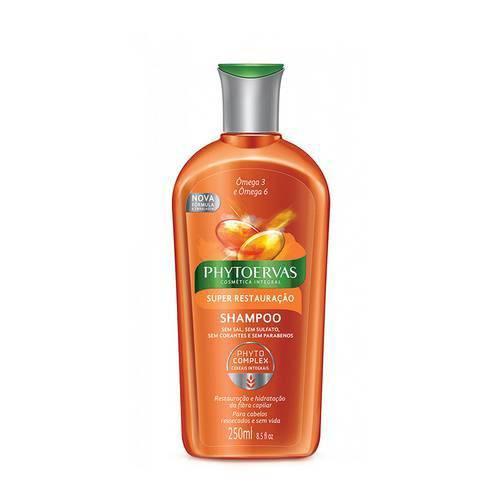 Shampoo Phytoervas Super Restauração Ômega 3 e 6 com 250 Ml