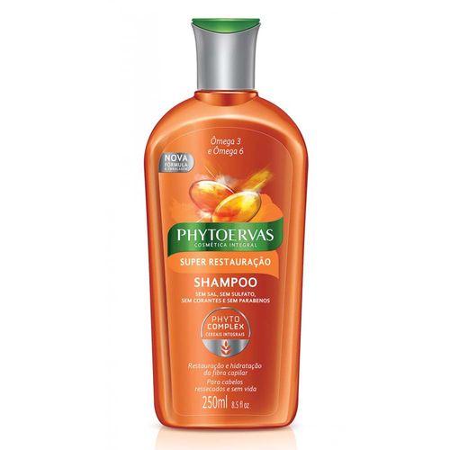 Shampoo Phytoervas Super Restauração Ômega 3 e Ômega 6 250ml