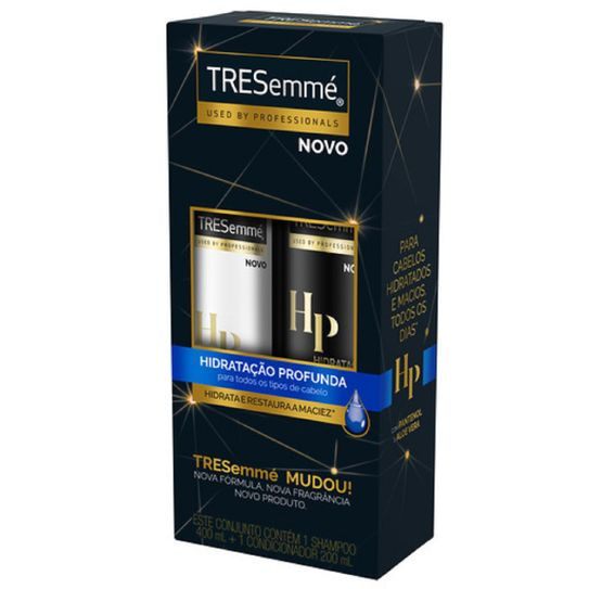 Shampoo Tresemmé Hidratação Profunda 400ml + com 55% de Desconto no Condicionador Tresemmé Hidratação Profunda 200ml