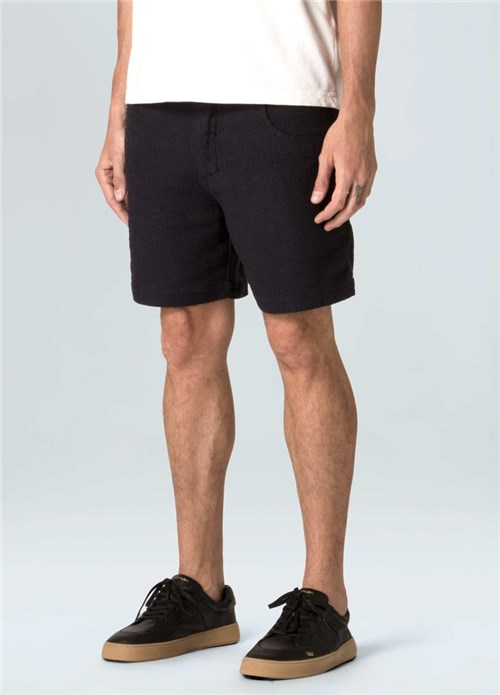 Short 5 Pockets Rough Texture-Preto - G