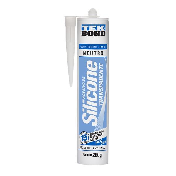 Silicone Neutro Incolor 280g Cartucho Tekbond