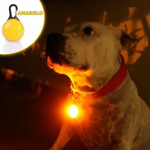 Sinalizador LED Amarelo, para Cães e Gatos
