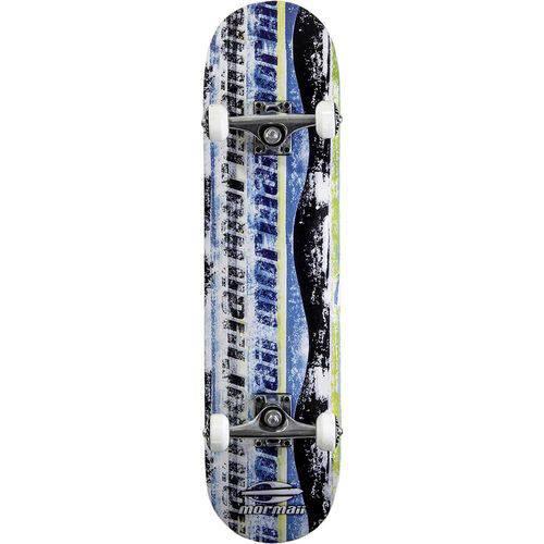 Skate Skateboard Mormaii Chill Abec-5 Azul e Preto
