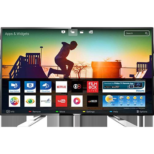 """Tudo sobre 'Smart TV LED 43"""" Philips 43PUG6102/78 Ultra HD 4k com Conversor Digital 4 HDMI 2 USB Wi-Fi 60hz Preta'"""