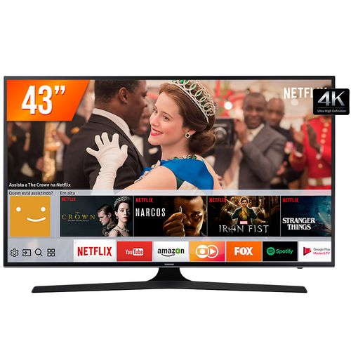 Tudo sobre 'Smart TV LED 43'' UHD 4k Samsung MU6100 3 HDMI 2 USB Wi-Fi Integrado Conversor Digital'