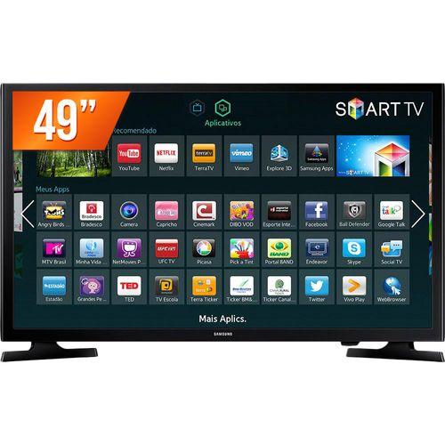 """Tudo sobre 'Smart Tv Led 40"""" Samsung Full Hd Un40j5200 2 Hdmi e 1 Usb 120 Hz'"""