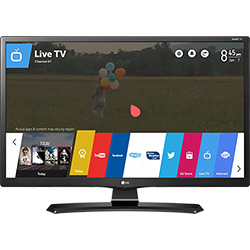"Smart TV LED LG 24"" HD 24MT49S-PS Conversor Digital Wi-Fi Integrado USB 2 HDMI WebOS 3.5 Screen Share"