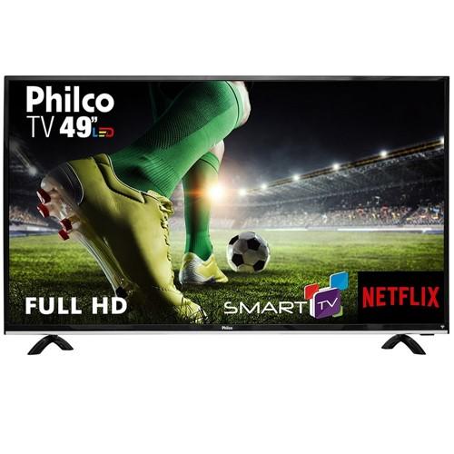 """Tudo sobre 'Smart TV Philco Led Full HD 49"""" PTV49E68DSWN - Bivolt'"""